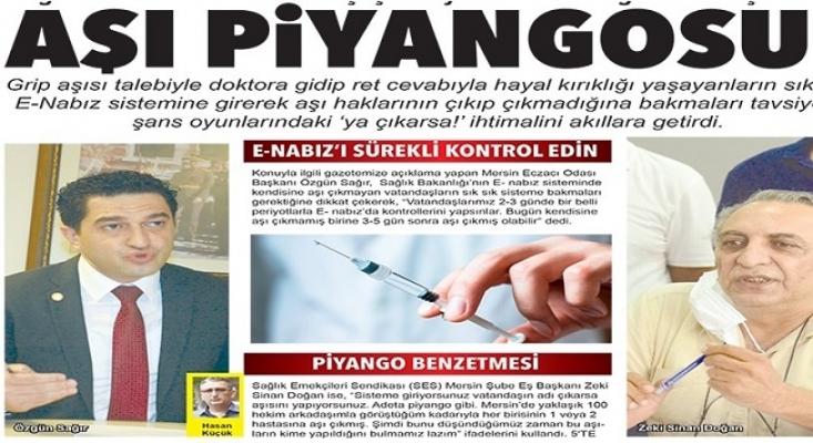 Mersin'de Aşı Piyangosu