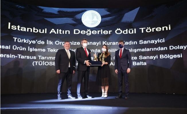 """Akyürek Balta'ya 'Yılın Sanayici İş Kadını"""" Ödülü"""