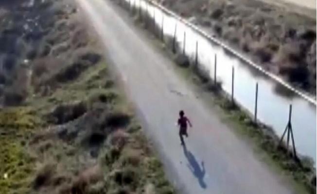 Çocuğun Drondan Kaçma Anı Kamerada
