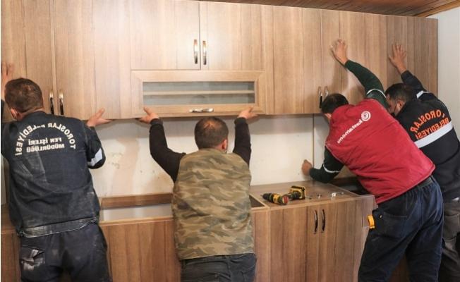 İhtiyaç Sahibi Ailenin Mutfağı, Toroslar Belediyesince Yenilendi