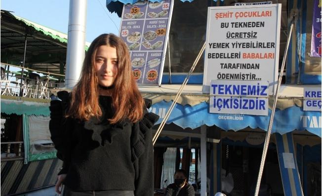 Mersin'de Bu Teknede Balık Ekmek Şehit Çocuklarına Bedava