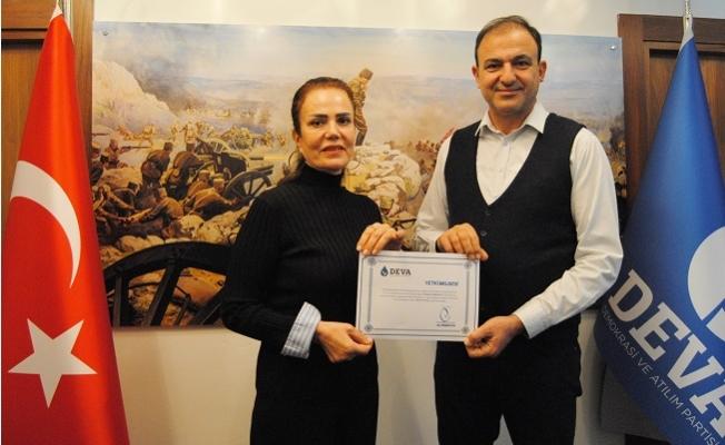 Mersin DEVA'da Yenişehir İlçe Başkanı Dalgıç Oldu