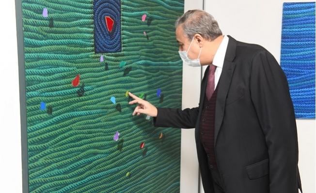 Vali Ali İhsan Su, Ahmet Yeşil Sergisini Gezdi