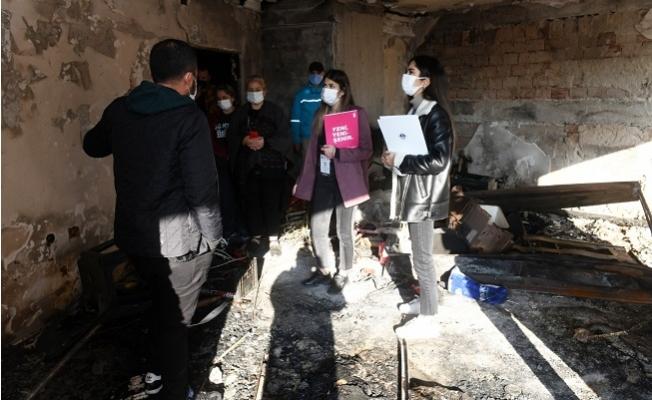 Yenişehir'de Yangın Çıkan Sitede Zarar Tespiti
