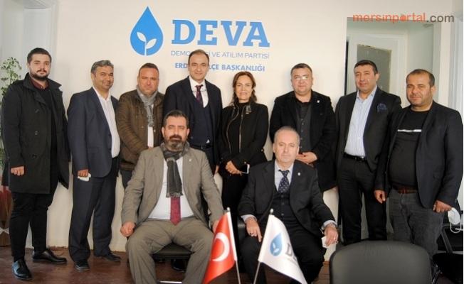 DEVA Partisi Mersin İlçe Başkanları Erdemli'de Buluştu