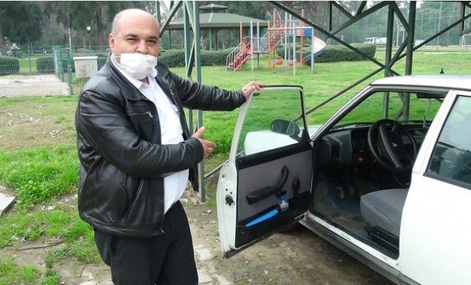 İnatçı Hırsızlar Çalıştıramadıkları Otomobili İterek Çalmaya Çalıştılar