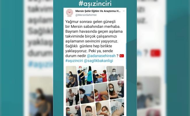 Mersin Şehir Hastanesinden 'Aşı Zinciri' Kampanyası