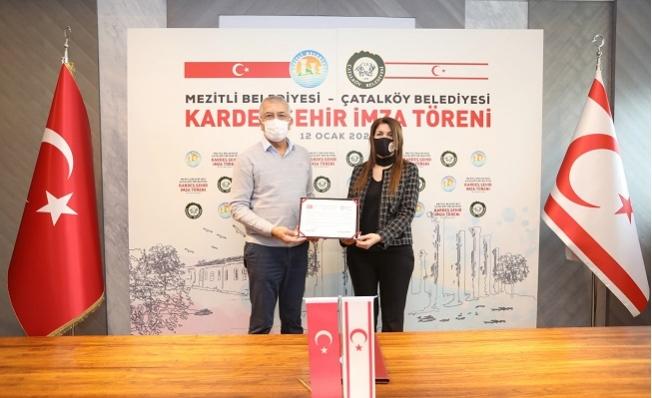 Mezitli İle Çatalköy Belediyesi Kardeş Şehir Anlaşması İmzalandı