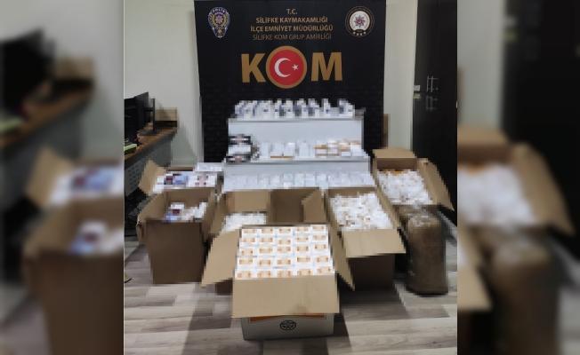Silifke'de 75 bin 600 Kaçak Makaron Ele Geçirildi