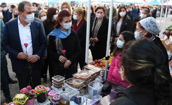 Üretici Kadın Pazarı Bukez Erdemli'de Kuruldu