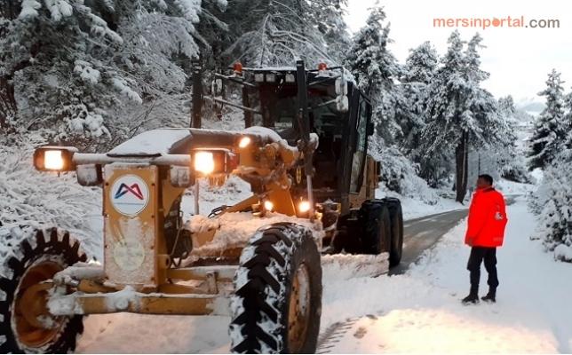 Büyükşehir, Yüksek Kesimlerde Karla Mücadeleyi Aralıksız Sürdürüyor