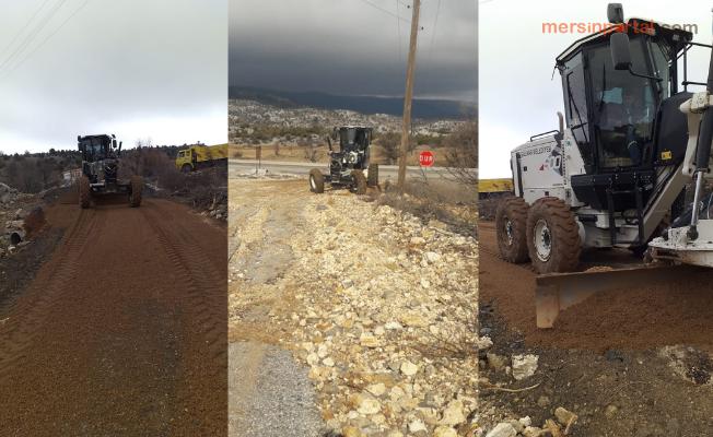 Gülnar Belediyesi Yoğun Yağışların Verdiği Tahribatı Onarıyor