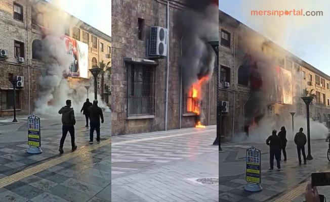 Mersin'de Büyükşehir Belediye Binasına Molotoflu Saldırı