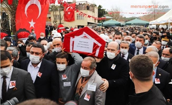 Mersin Gara Şehidini Göz Yaşları İçinde Uğurladı.