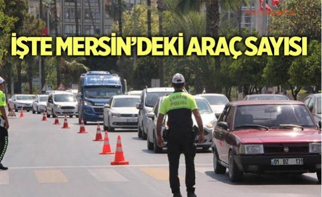 Mersin'de Ocak Ayı İtibariyle Trafiğe Kayıtlı Araç Sayısı
