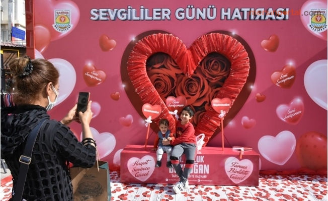Tarsus Belediyesinden Sevgililer Gününe Özel Çalışma