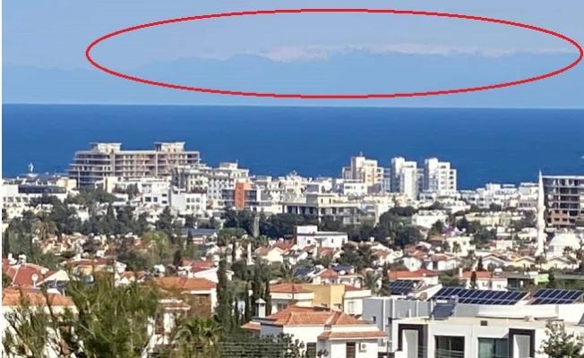 Mersin'in Bugünkü Soğuğu Kıbrıs'ta Fotoğraf Karesine Yansıdı.