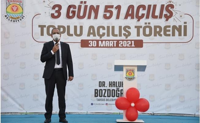Tarsus Belediyesi Hizmet Maratonuna 1 Günde 18 Açılış İle Star Verdi.