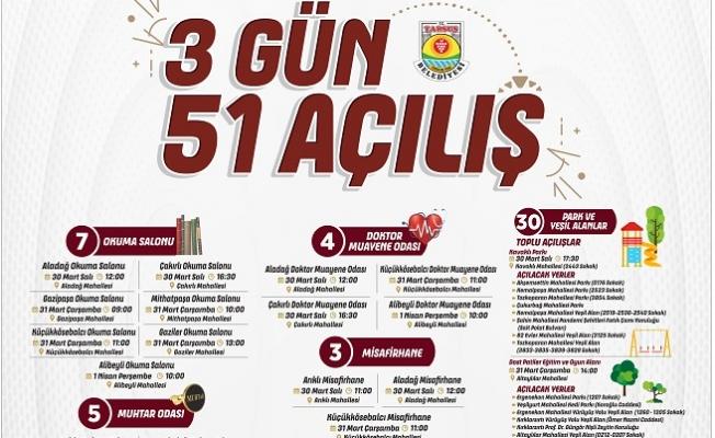 Tarsus Belediyesinden 3 Günde 51 Açılış