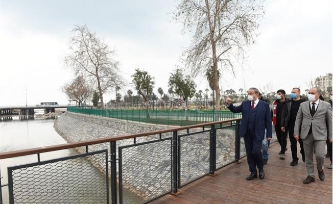 Vali Su, Millet Bahçesi'ndeki Çalışmaları Yerinde İnceledi