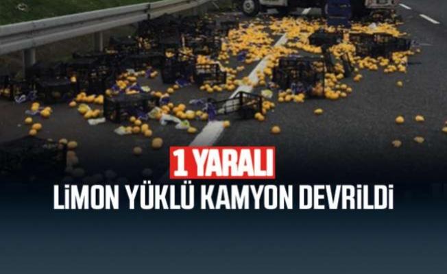 Mersin'de Limon Yüklü Tır Devrildi. Vatandaşlar Seferber Oldu.