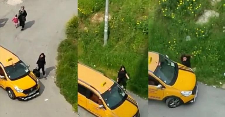 Mersin'de Kız Kardeşinin Üzerine Aracını Süren Taksici