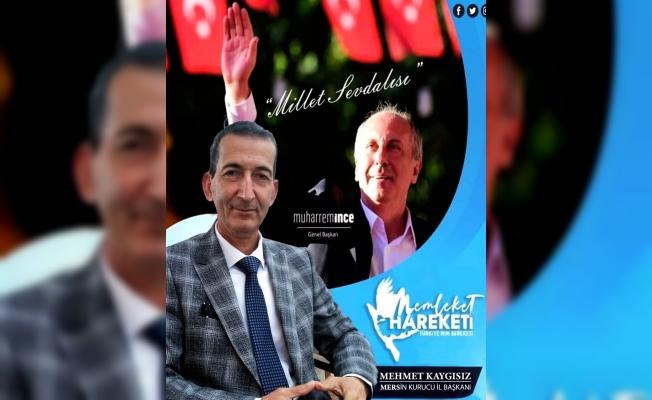 Muharrem İnce Mersin'de Memleket Hareketine Mehmet Kaygısız'ı Atadı.
