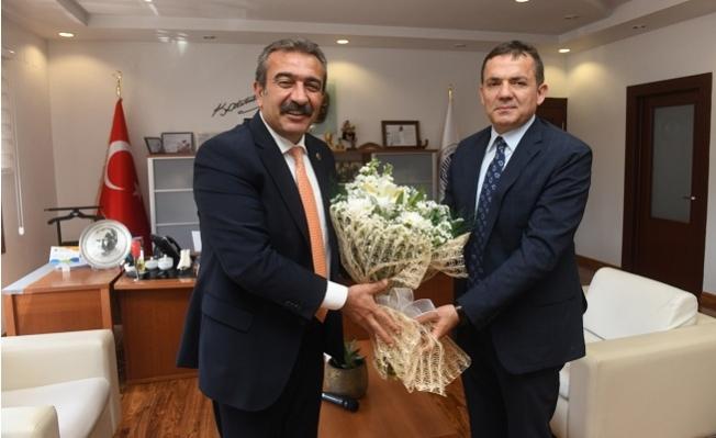 Soner Çetin'den Başkan Özyiğit'e Ziyaret