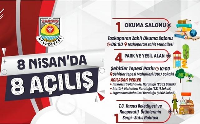 Tarsus Belediyesinden 8 Açılış