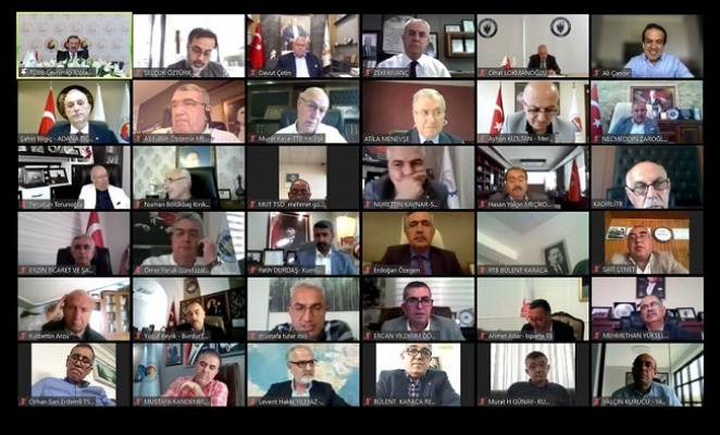 TOBB'un Akdeniz Bölge Toplantısı Dijital Ortam'da Gerçekleşti.