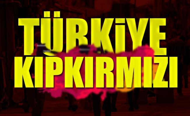 Türkiye Koronavirüs Renk Haritası Güncellendi
