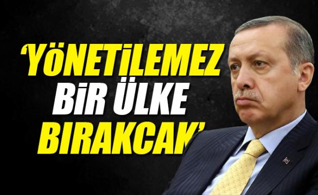"""""""Erdoğan Kaybederse Yönetilemez Bir Ülke Bırakacak"""""""