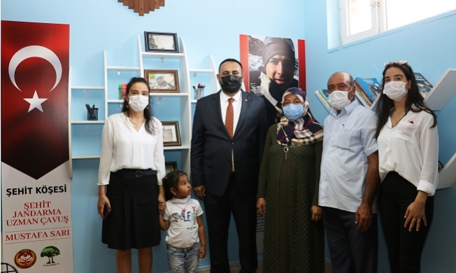 Şehit Jandarma Uzman Çavuş Mustafa Sarı'nın Adı Okul Kütüphanesinde Yaşayacak