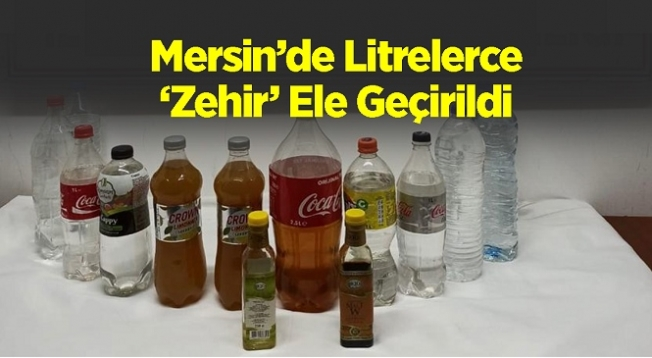 Silifke'de Kaçak Alkol Operasyonu