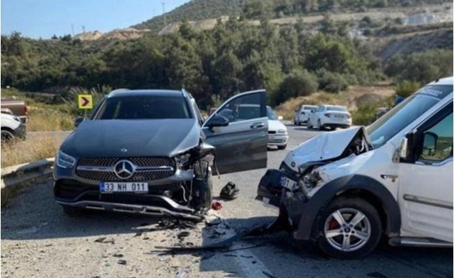 Belediye  Başkanı Haluk Bozdoğan Kaza Yaptı.