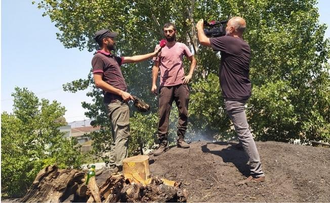 Hava Sıcaklığı İle 100 Derecede Mangal Kömürü Üretiyorlar