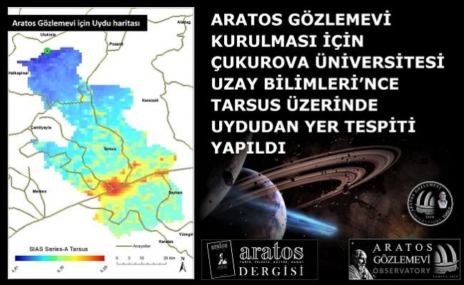 Tarsus'ta Kurulacak Gözlemevi İçin Uydudan Yer Tespiti Yapıldı.