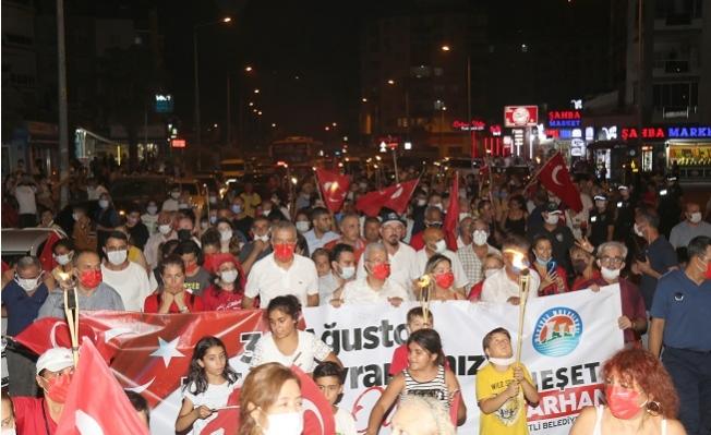 Mezitli'de Zafer Yürüyüşünde Büyük Coşku Yaşandı