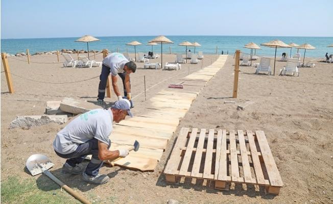 Pompeiopolis Plajına Engelli Rampası Yerleştirildi