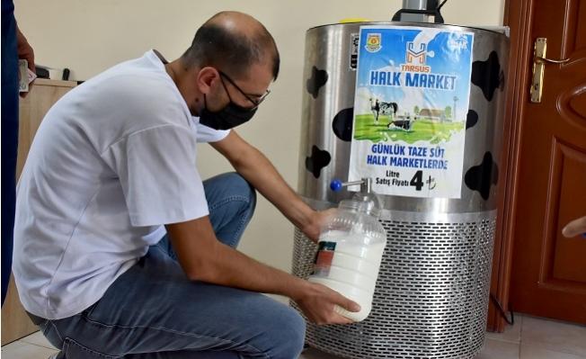 Tarsus Belediyesi Sütü Piyasanın 2TL Altında Satmaya Başladı.