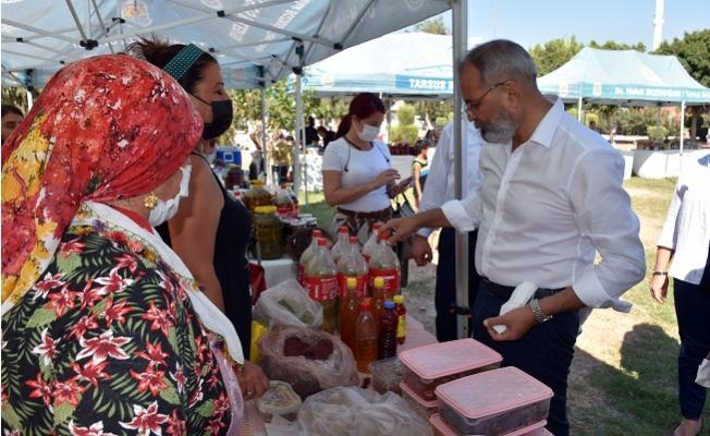 Tarsus'ta Üretici Kadınlar Başkan Bozdoğan İle Buluştu.