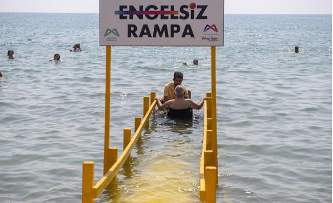 10 Yeni  'Engelsiz Rampa' Halk Plajlarına Yerleştirildi.