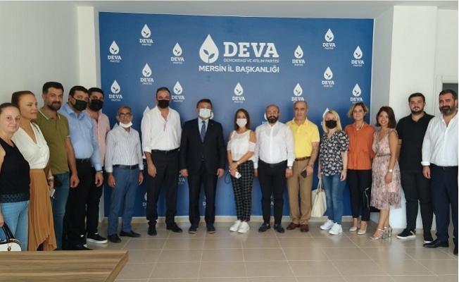 DEVA Heyeti Ekonomi ve Eğitim için Mersin'e Geldi