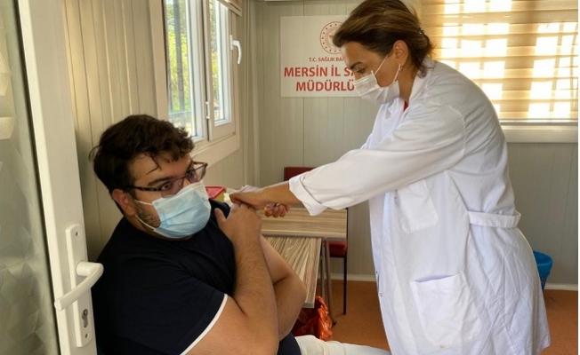 Mobil Aşı Ekibi Çiftlikköy Yerleşkesinde Hizmete Başladı.