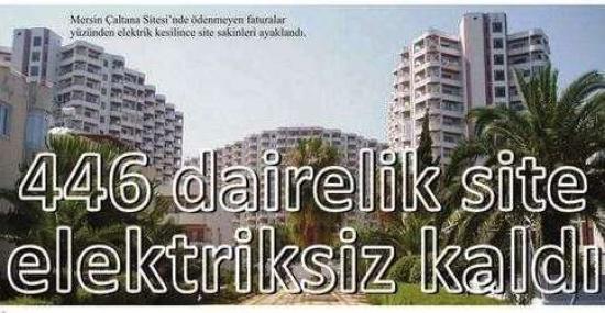 446 Dairelik Sitenin Elektriği Kesildi...