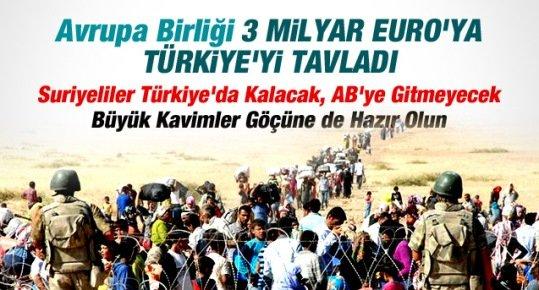 Avrupa Birliği 3 Milyar Euro'ya Suriyelileri Türkiye'de Kalmasını Sağladı