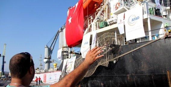 Açlık Çeken Afrika Ülkelerine Mersin Limanından 11 Ton İnsani Yardım