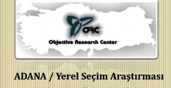 Adana Büyükşehir Belediye Anket Sonuçları