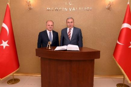 Adana Valisi Büyük'ten Mersin Valisi Çakacak'a Ziyaret