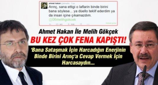 Ahmet Hakan İle Melih Gökçek Bu Kez Çok Fena Kapıştı!